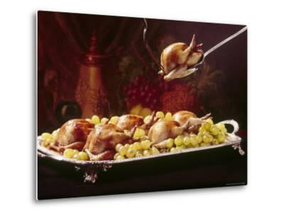 Platter of Squab Garnished with Grapes
