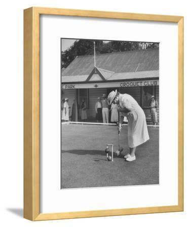 Playing Croquet, at Croquet Club
