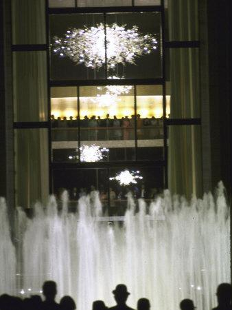 Plaza Outside the New Metropolitan Opera House, Opening Night at Lincoln Center