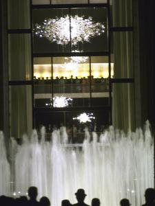 Plaza Outside the New Metropolitan Opera House, Opening Night at Lincoln Center by John Dominis