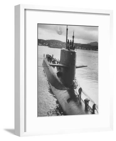 "Polaris Missile Sub ""Patrick Henry"" Near Holy Loch"