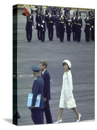 Pres. John Kennedy and Wife Jacqueline During a State Visit to Mexico