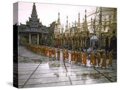 Procession of Buddhist Monks, Shwe Dagon Pagoda, Ceremonies Marking 2,500th Anniversary of Buddhism