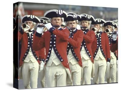 Red Coated Fifers of the US Army Marching in President Lyndon Johnson's Inaugural Parade