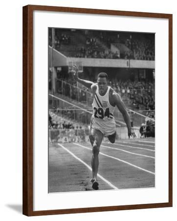 Runner Milt Campbell Competing in the Olympics