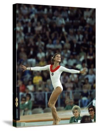 Russian Gymnast Olga Korbut Performing Floor Exercises at Summer Olympics