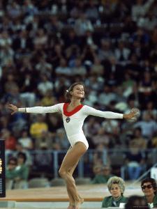 Russian Gymnast Olga Korbut Performing Floor Exercises at Summer Olympics by John Dominis