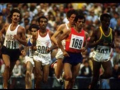 US Track Athlete Frank Shorter Running a Marathon at the Summer Olympics