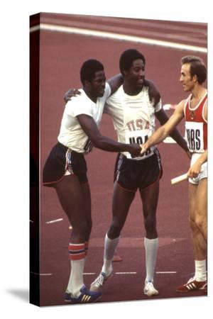 Usa Winners of the Men's 400- Meter Relay Race 1972 Summer Olympic Games in Munich, Germany
