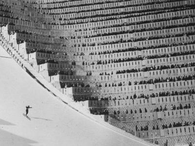 View of the 90 Meter Ski Jump During the 1972 Olympics by John Dominis