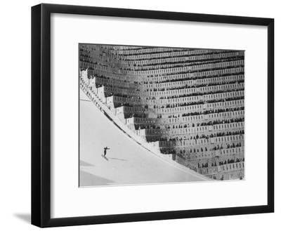 View of the 90 Meter Ski Jump During the 1972 Olympics
