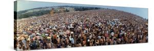 Wide Angle Overall of Huge Crowd Facing the Distant Stage, During the Woodstock Music and Art Fair by John Dominis