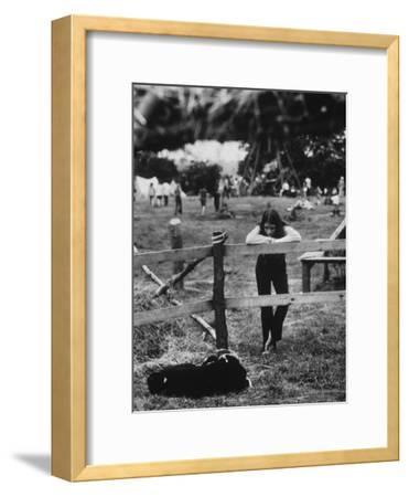 Young Girl Attending Woodstock Music Festival