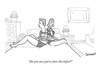 """""""Are you sure you've done this before?"""" - New Yorker Cartoon by John Donohue"""