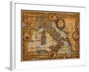 Map of Italy by John Douglas