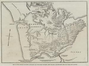 Map of the Country Between Auckland and the River Waikato by John Dower
