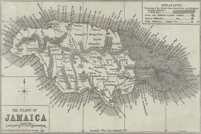 Map of the Island of Jamaica