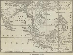 Map of the Strait of Malacca by John Dower