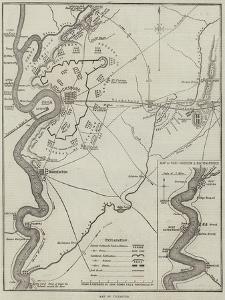 Map of Vicksburg by John Dower