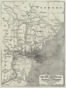 Map Showing the New Frontier Line Between Russia and Turkey as Settled by the Treaty, 30 March 1856 by John Dower