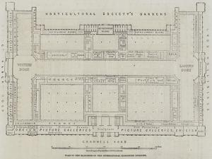 Plan of the Galleries of the International Exhibition Building by John Dower