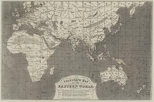 Telegraph Map of the Eastern World by John Dower