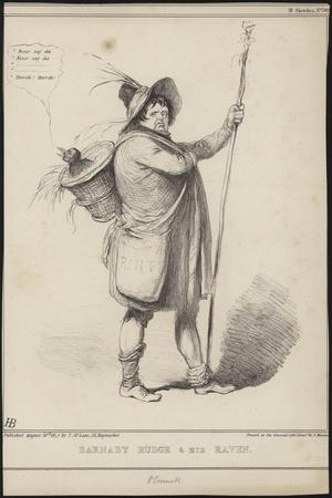 Barnaby Rudge and His Raven, Illustration from 'Barnaby Rudge' by Charles Dickens, 1841
