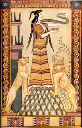 Cretan Snake Goddess by John Duncan