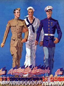 """""""Army, Navy and Marines,""""November 13, 1937 by John E. Sheridan"""