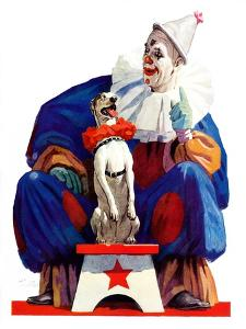 """Circus Clown and Pooch,""June 3, 1939 by John E. Sheridan"