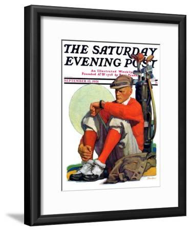 """Golfer Kept Waiting,"" Saturday Evening Post Cover, September 12, 1931"