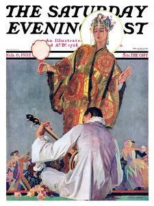 """Mardi Gras Ball,"" Saturday Evening Post Cover, February 6, 1932 by John E. Sheridan"