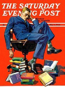 """Motivated to Sleep,"" Saturday Evening Post Cover, May 7, 1938 by John E. Sheridan"