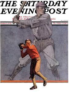 """Shadow Batter,"" Saturday Evening Post Cover, October 8, 1932 by John E^ Sheridan"