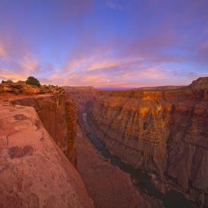 Full moon over Toroweap Point in Grand Canyon National Park by John Eastcott & Yva Momatiuk