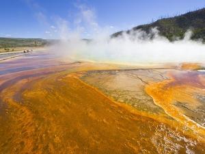 Grand Prismatic Spring in Yellowstone National Park by John Eastcott & Yva Momatiuk