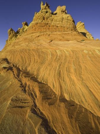Layers of colorful sandstone at Coyote Buttes