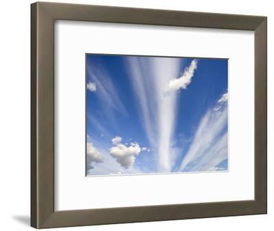 Lenticular and Cumulus Clouds