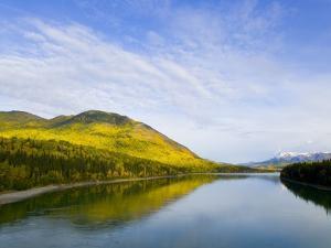 Liard River in Autumn by John Eastcott & Yva Momatiuk