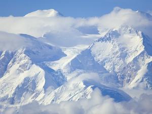 Mt. McKinley on Sunny Day by John Eastcott & Yva Momatiuk