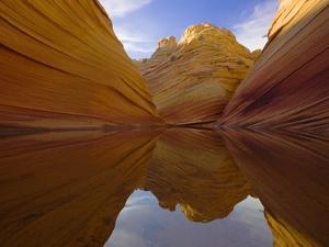 Rainwater Pool Among Sandstone Buttes by John Eastcott & Yva Momatiuk