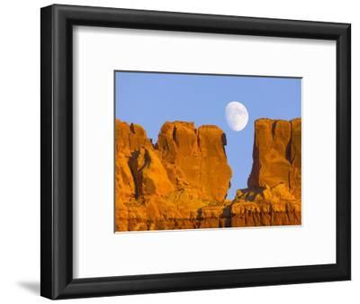 Sandstone Buttes and Moon