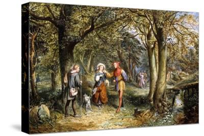 A Scene from 'As You Like It': Rosalind, Celia and Jacques in The Forest of Arden