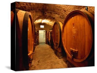 Aging Barrels in Castellina in Chianti Enoteca, Chianti, Tuscany, Italy
