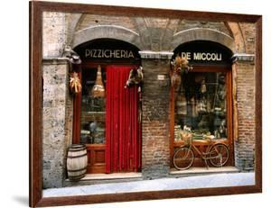 Bicycle Parked Outside Historic Food Store, Siena, Tuscany, Italy by John Elk III