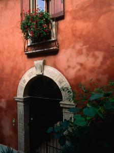 Building Facade on Piazza Bra, Verona, Veneto, Italy by John Elk III