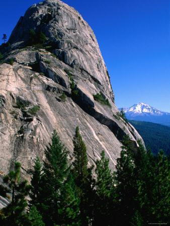 Castle Crags with Mt. Shasta in Distance, California