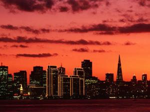 City at Sunset from Treasure Island, San Francisco, USA by John Elk III