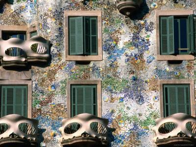 Detail of Gaudi's Casa Batilo, Barcelona, Catalonia, Spain