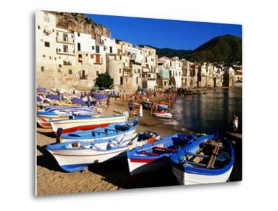 Fishing Boats on Beach at Seaside Resort, Cefalu, Italy